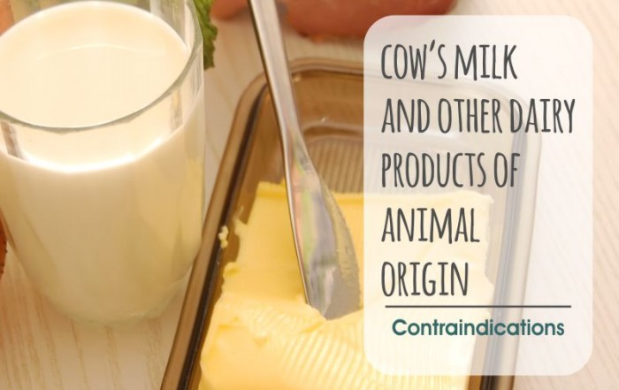 Advises Health, Contraindications Cow Milk, dairy products